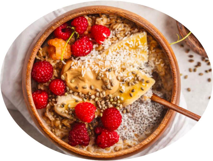 Porridge chia avoine