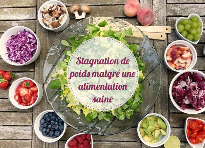 stagnation poids et alimentation saine